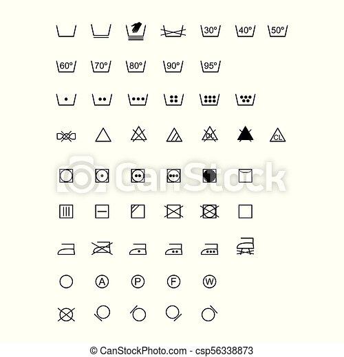 Laundry Symbols Vector Illustration