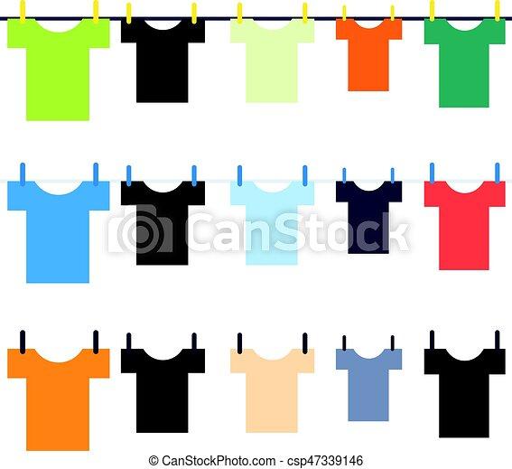 Laundry isolated on white background - csp47339146