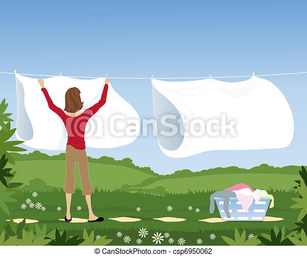 laundry line - csp6950062