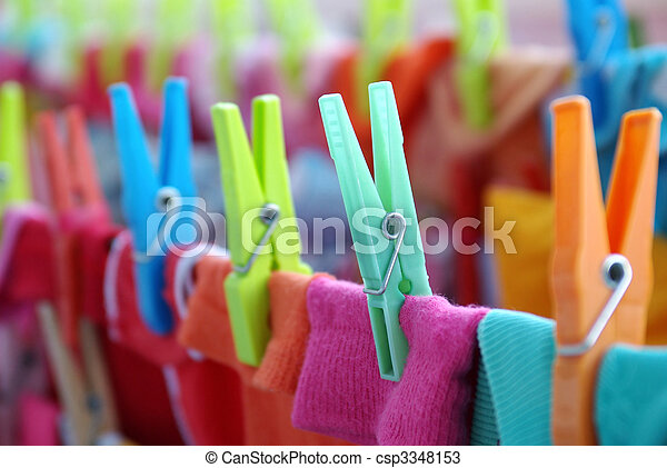 Laundry Pins - csp3348153