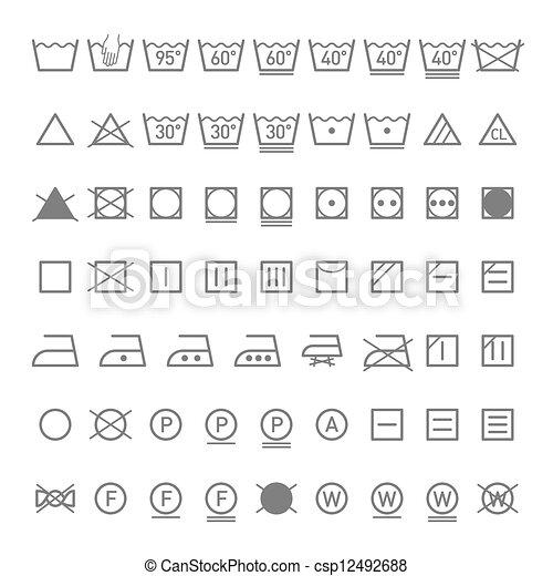 Laundry symbols - csp12492688