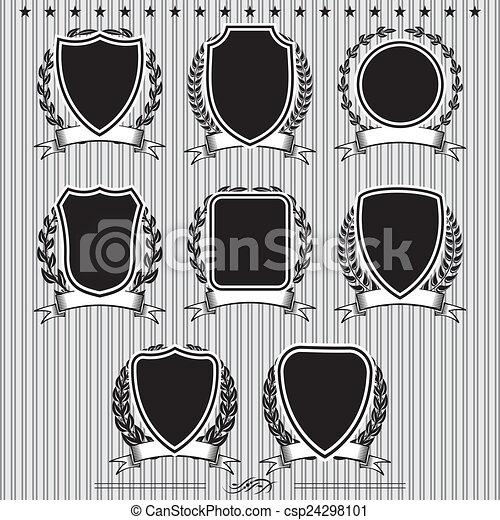 laurel, protectores, coronas, cintas - csp24298101