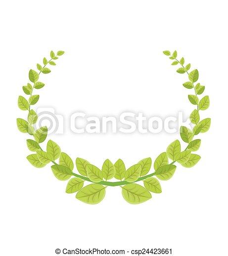 Laurel wreath - csp24423661