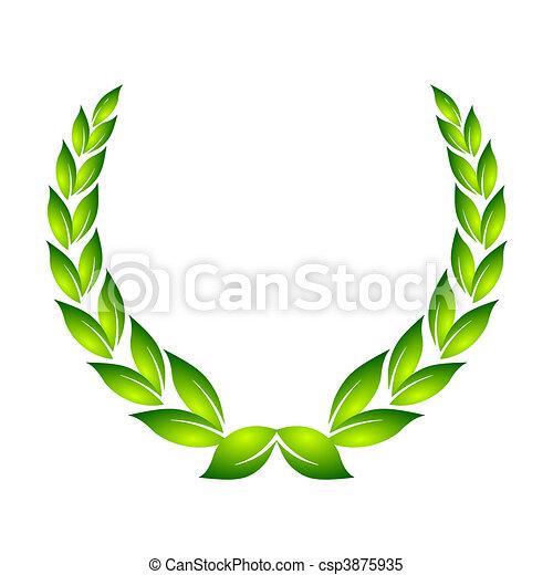laurel wreath - csp3875935