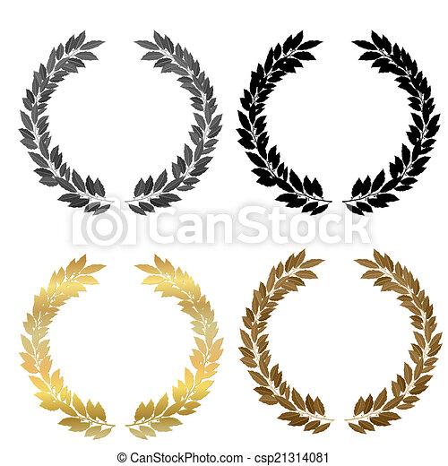 laurel wreath collection - csp21314081