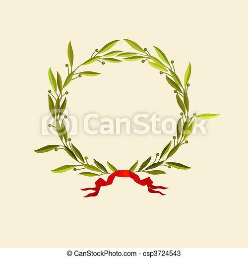 laurel wreath  - csp3724543