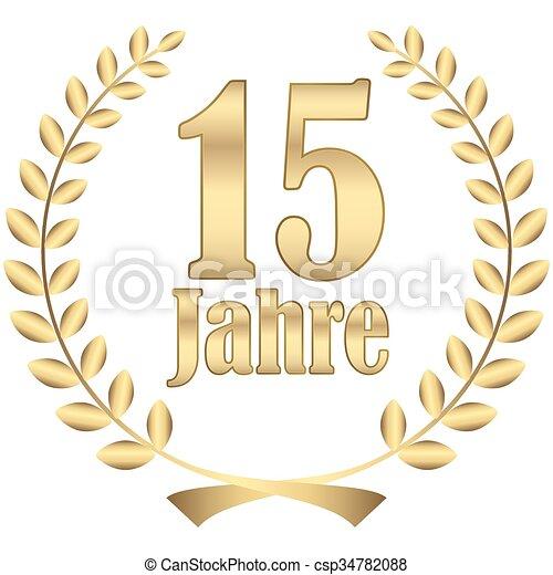laurel wreath for jubilee - csp34782088
