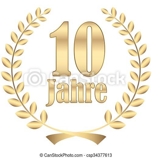 laurel wreath for jubilee - csp34377613