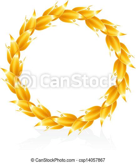 Laurel Wreath, vector - csp14057867