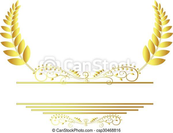 laurel wreath - csp30468816