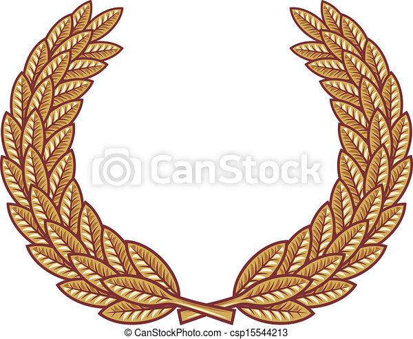 Laurel wreath vector - csp15544213