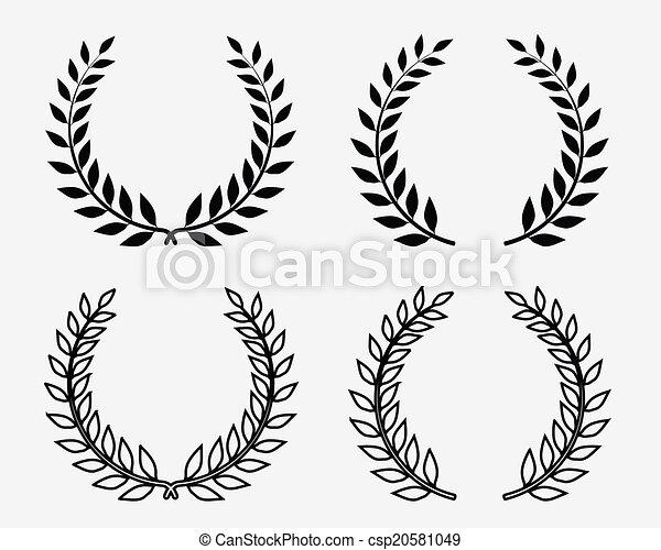 laurel wreaths - csp20581049