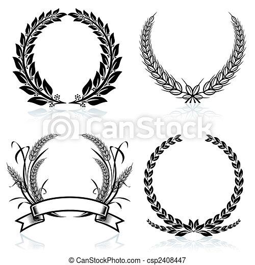 Laurel Wreaths - csp2408447