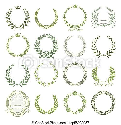 Laurel Wreaths Vector Collection - csp58239987
