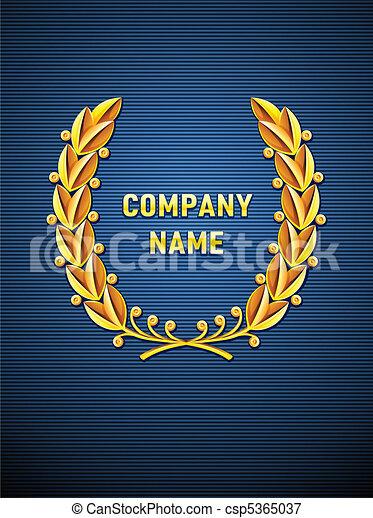 laurier, héraldique, couronne, emblème - csp5365037