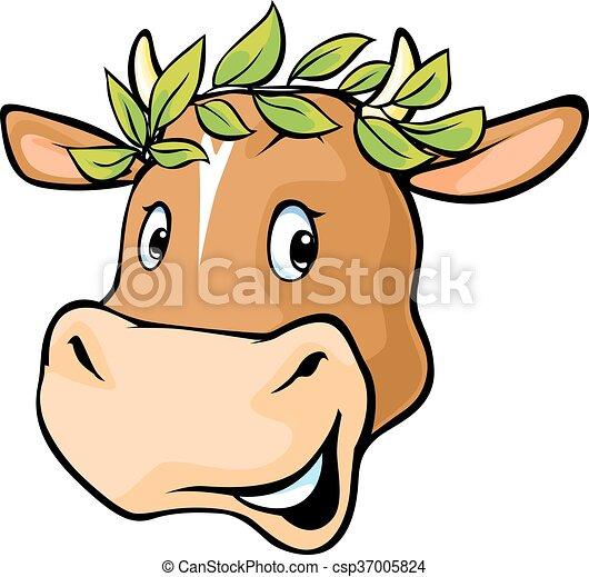 Laurier Tete Couronne Vache