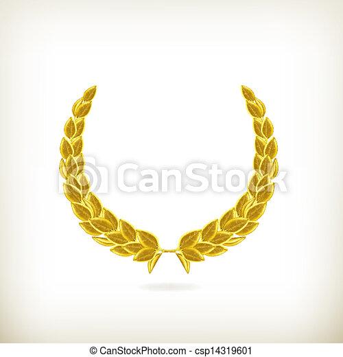 laurier, vector, krans, toewijzen - csp14319601