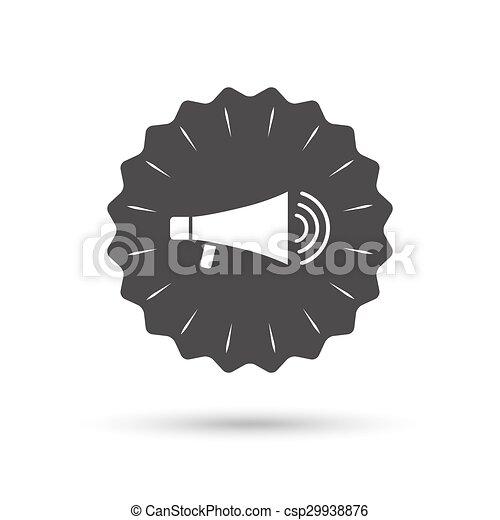 Lautsprecher, icon., megaphon, symbol., zeichen.... Vektoren ...
