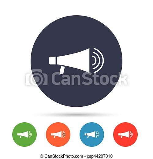 Lautsprecher, icon., megaphon, symbol., zeichen. Lautsprecher ...