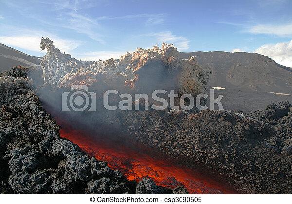 Lava flow at volcano etna - csp3090505