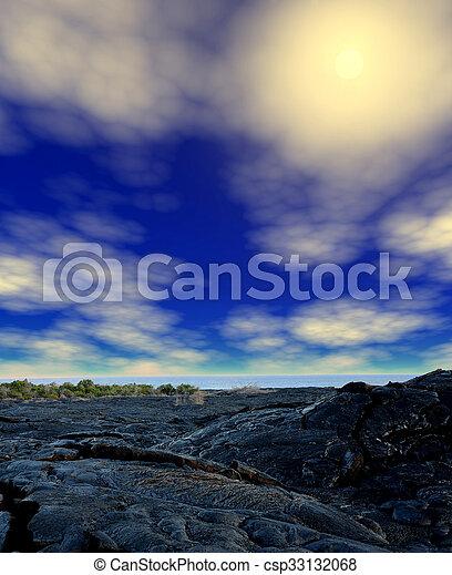 Lava Flow Hawaii - csp33132068