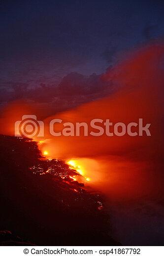 Lava flow in Hawaii - csp41867792