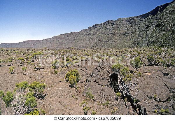 Lava flow La Reunion - csp7685039