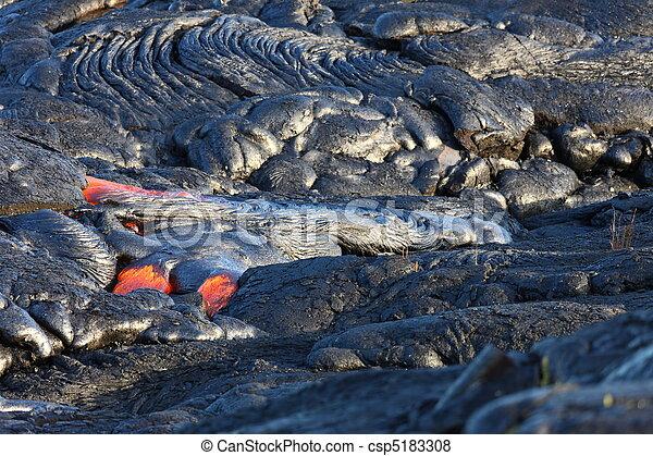 Lava flow on Big Island, Hawaii - csp5183308