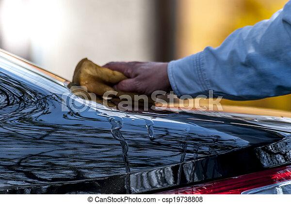 lavado, coche - csp19738808