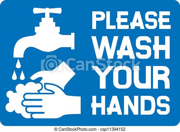Por favor, lávate las manos - csp11394152