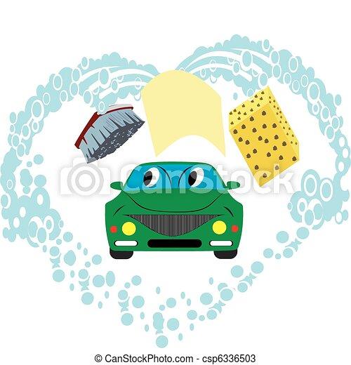 lavage voiture - csp6336503