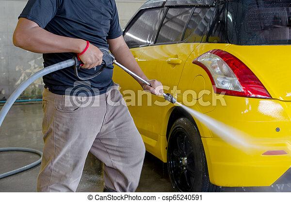 lavagem, homens, car - csp65240591