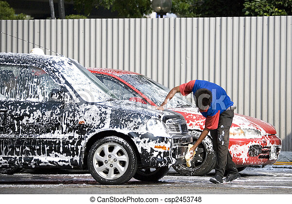 lavaggio i automobile - csp2453748