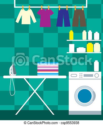 lavaggio, stanza - csp9553938