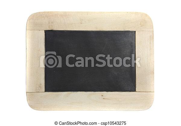 lavagna, bianco, legno, isolato, fondo - csp10543275