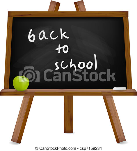 lavagna, indietro, school. - csp7159234