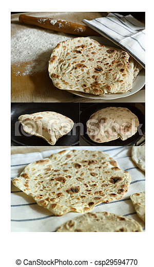 Lavash (traditional armenian flatbread) - csp29594770