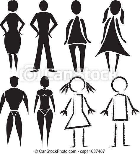 tegn for mand og kvinde