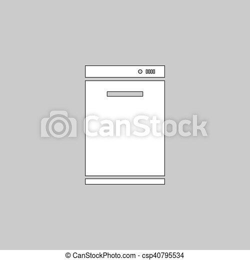 lave-vaisselle, informatique, symbole. lave-vaisselle, icon