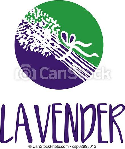 lavender., abstrakt, illustration, vektor, design, mall, logo, ikon - csp62995013
