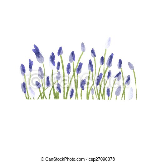 Lavender Border Watercolor Hand Drawn Floral Vector Illustration Painting Decorative Element For Greeting Cards Invitations