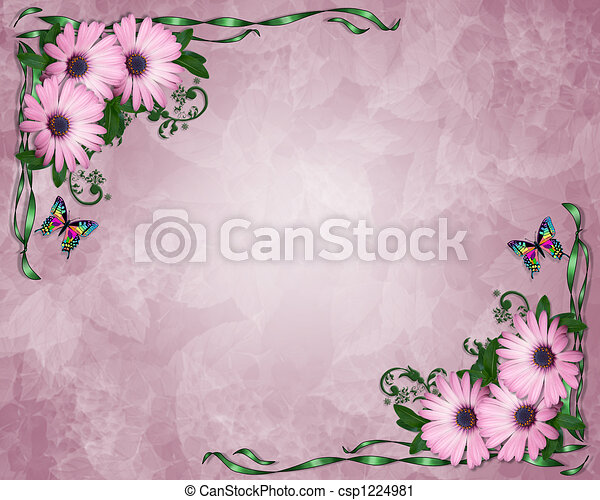 Lavender daisies background. Image and illustration composition ...