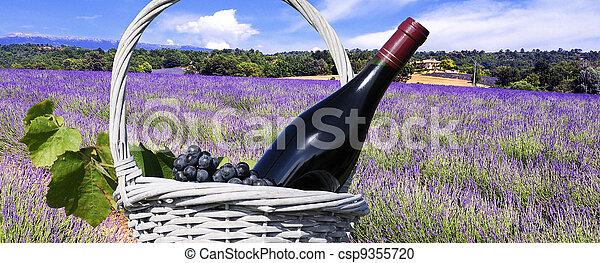 Lavender in the landscape - csp9355720