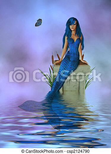 Lavender Mermaid - csp2124790