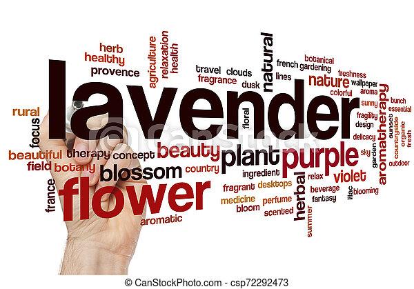 Lavender word cloud - csp72292473
