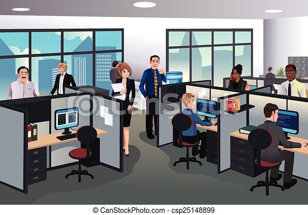 lavorando ufficio, persone - csp25148899