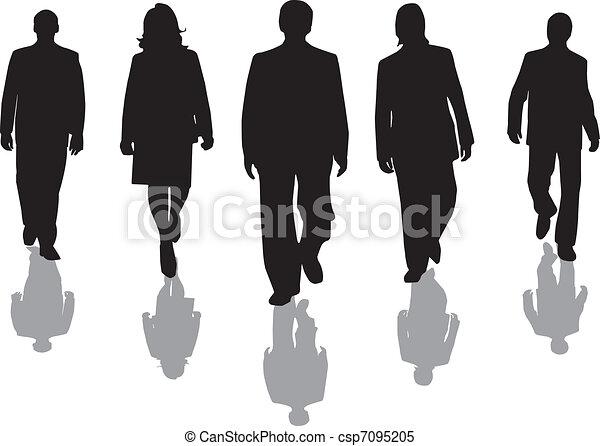 lavorante, silhouette - csp7095205