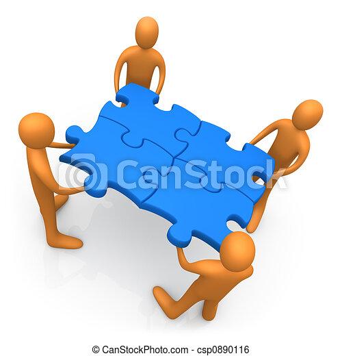lavorare insieme - csp0890116