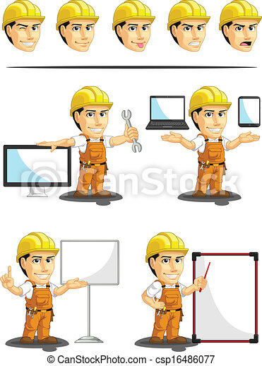 lavoratore, industriale, cust, costruzione - csp16486077
