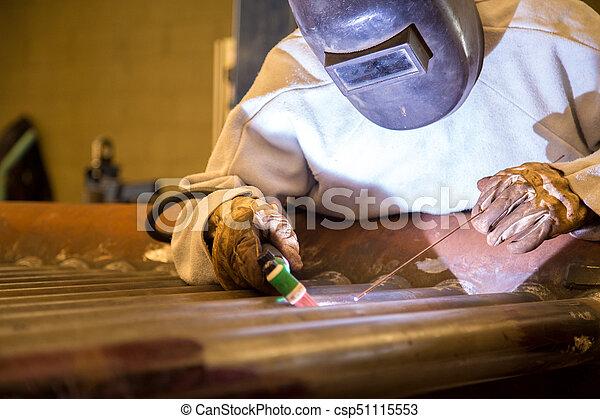 lavoratore industriale, saldatore - csp51115553